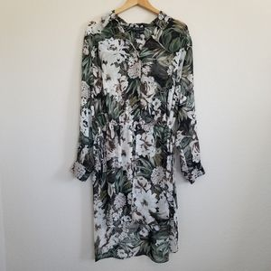 INC International Concepts Botanical Tunic Blouse